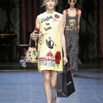 The opening of Dolce & Gabbana Milano fashion show
